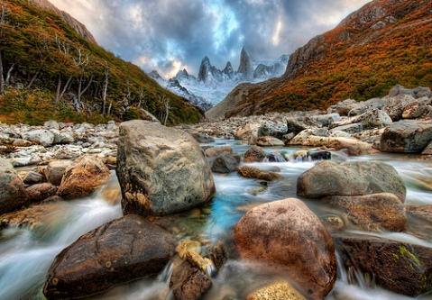 River Runs through the Andes