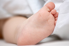 An image of baby's foot