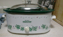 "This crockpot is a real ""Crock Pot"" from Rival."